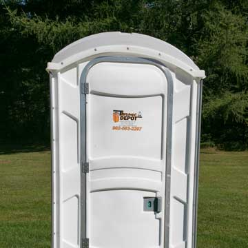 White Portable Toilet (Wedding/Event)