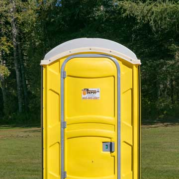 Yellow Flushable Portable Toilet